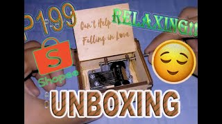 Can't help falling in love (music box)   How to unbox the box   RELAXING