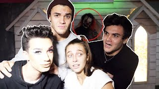 HAUNTED HOUSE ft. James Charles & Emma Chamberlain thumbnail