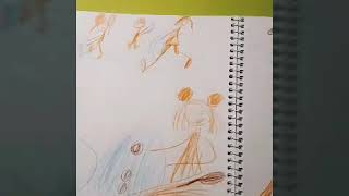 Как лепить снеговика. Зимние комиксы. Рисует ребенок 5 лет.