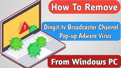 Dingit.tv Broadcaster Channel pop-ups Removal Guide