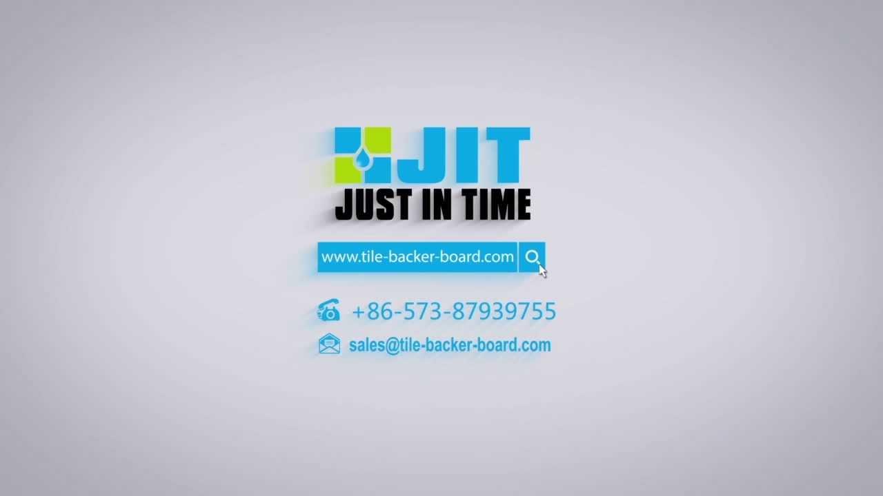 JIT tile backer board, building panel - YouTube