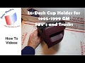 How To Remove In Dash Cup Holder on Chevrolet and GMC Truck and SUV