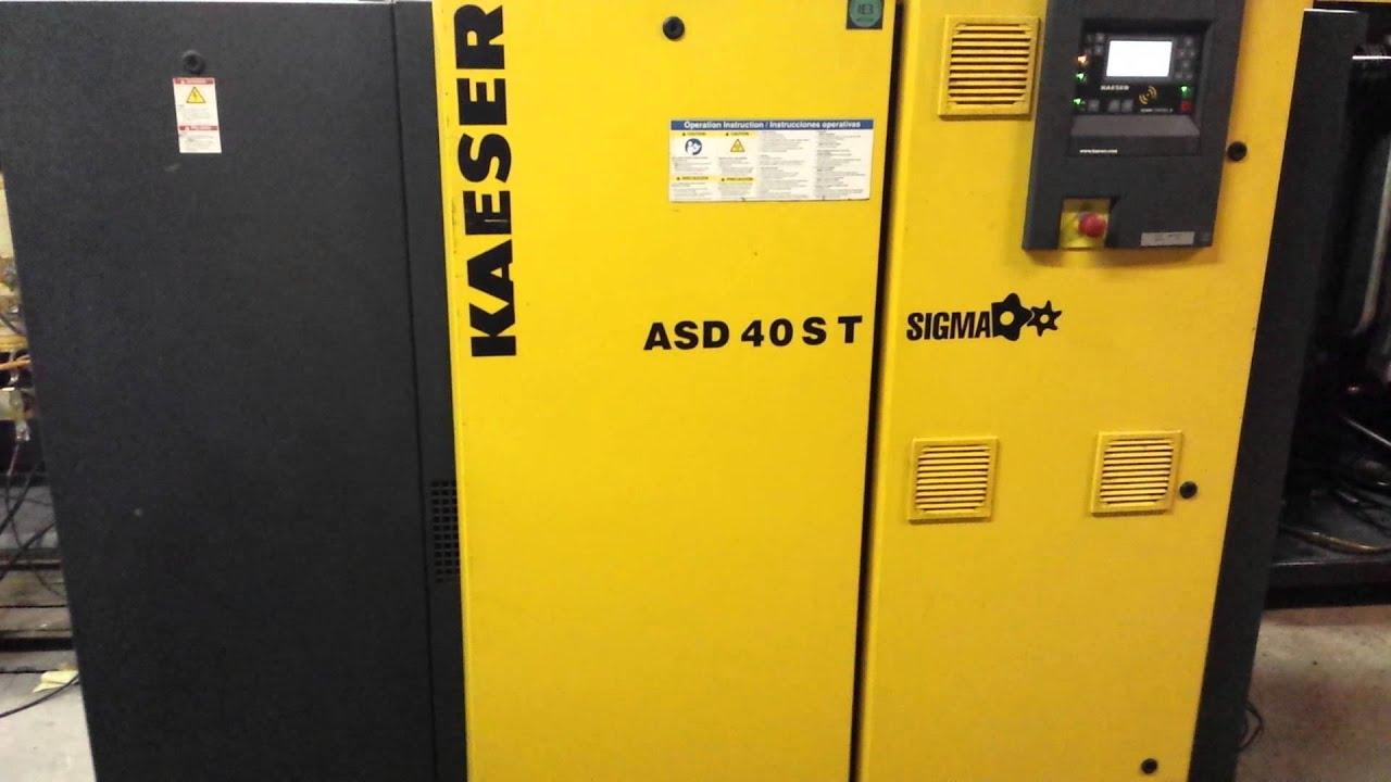 kaeser asd 40s t 40hp direct drive rotary screw air compressor with rh youtube com Kaeser BS 61 Manual kaeser asd 25 service manual
