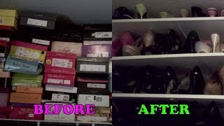 Diy: Shoe Shelves | Organization
