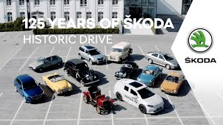 125 years of ŠKODA: Historic drive