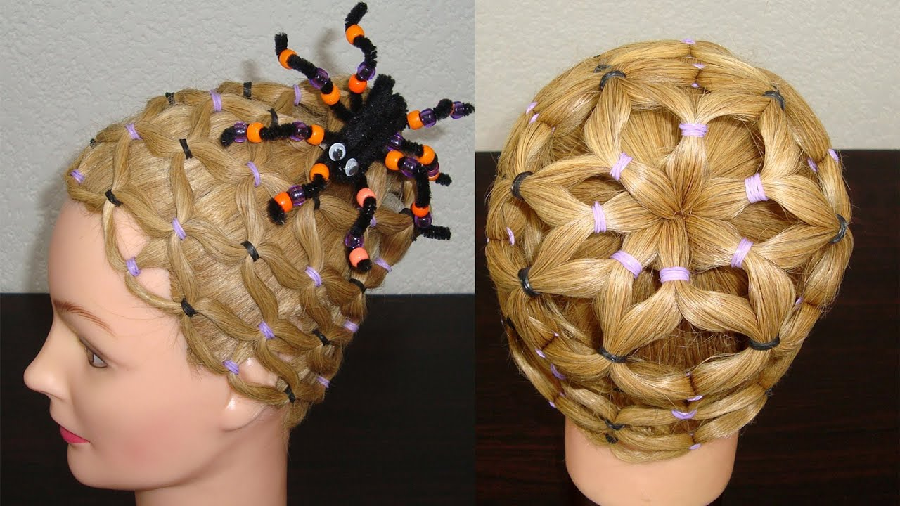 Elegante peinados halloween Colección De Consejos De Color De Pelo - *HALLOWEEN* SPIDERWEB HAIRSTYLE | PEINADO TELARAÑA ...