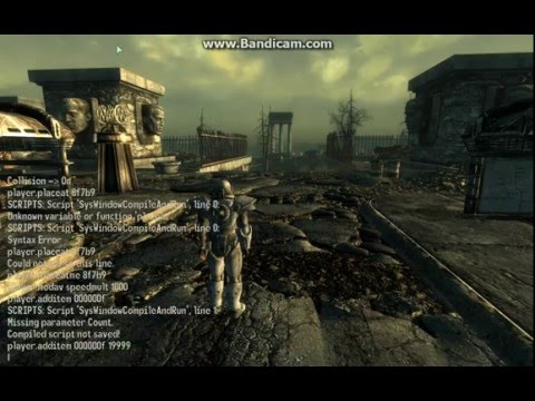 fallout 3 console command guide see disc for more commands (PC)