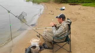 Фидер конец августа 2017 года на реке Ока отдых.  Рыбалка с дядей Мишей.