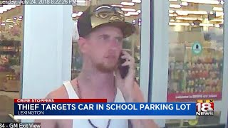 Thief Targets Car In School Parking Lot