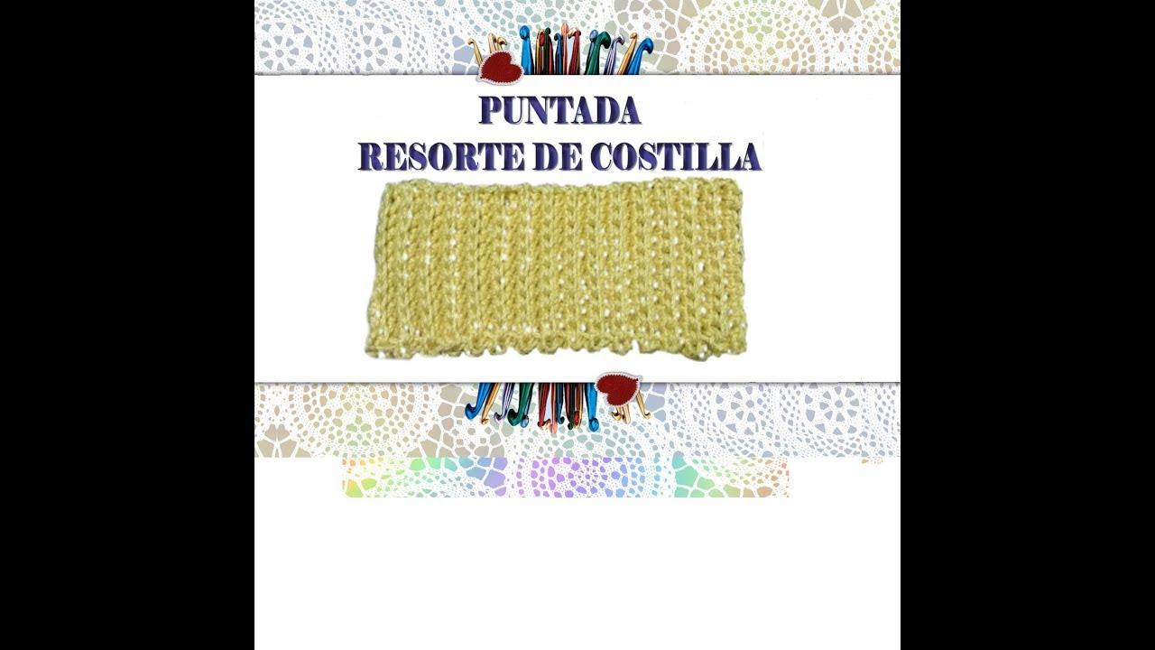 PUNTADA NUM. 1 RESORTE DE COSTILLA CON MEDIO PUNTO. - YouTube