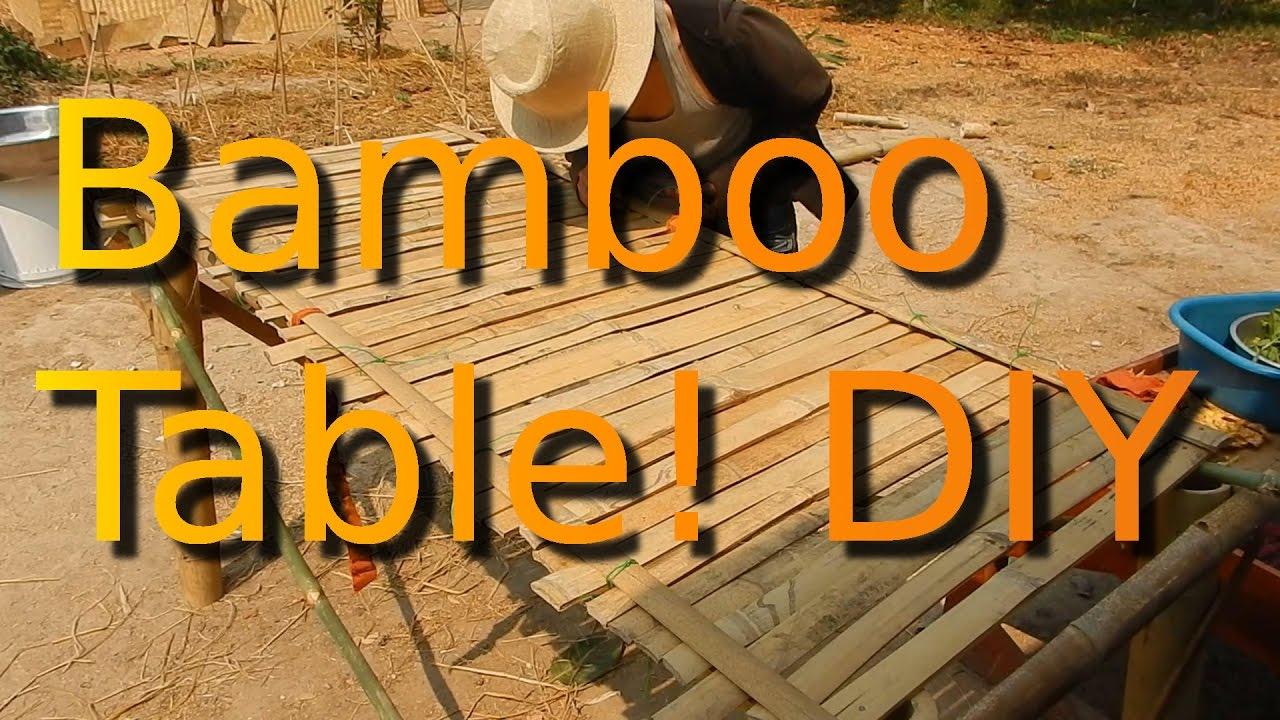 Leks Diy Bamboo Table Vegan Camp