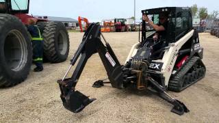 Terex R070T Track Loader with Backhoe attachment