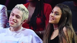 ariana grande reminisces about first kiss with pete davidson