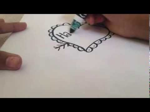 How to draw valentine heart card fantasticfive YouTube – How to Draw Valentine Cards