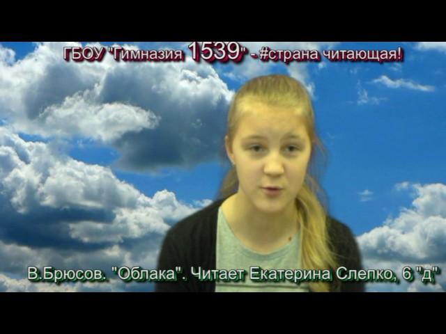 Изображение предпросмотра прочтения – ЕкатеринаСлепко читает произведение «Облака (Облака опять поставили…)» В.Я.Брюсова