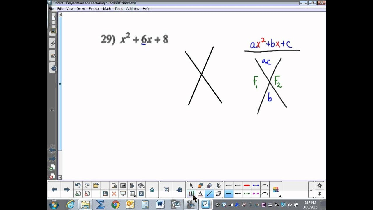 worksheet Factoring Trinomials A 1 factoring trinomials a1 youtube a1