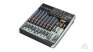Behringer® Mixer QX1622USB XENYX Multi-FX 16 Entradas 12 Canales video