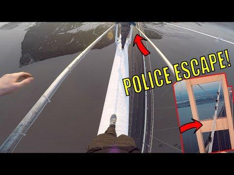 CRAZY BRIDGE CLIMB! *POLICE ESCAPE*