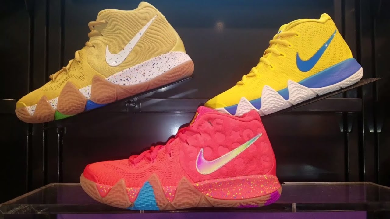 df9b2fb496e1 ENTIRE NIKE KYRIE 4 CEREAL PACK AT THIS FOOT LOCKER - YouTube