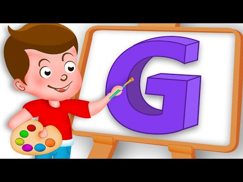 Drawing Alphabet G Letter coloring painting for kids Kids Drawing TV