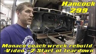 Wrecked Monaco coach project video #2