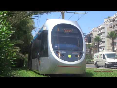 Trams in Athens, Greece 2017