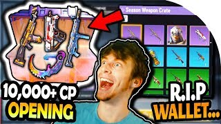 HUGE CRATE OPENING in CALL OF DUTY MOBILE (I spent 10,000+ CP in the new CoD Mobile...)