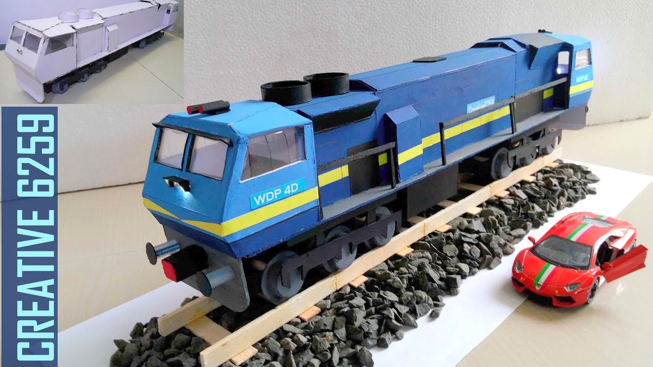 How To Make A Train Engine  Electric (DC) Motor  Using Cardboard  DIY Scale Model  RC Train (2 Way)
