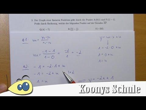 2-Punkte-Gleichung und Punktprobe mit einer Aufgabe erklärt | 3/5 ...