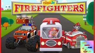 Nick Jr Firefighters - Paw Patrol Marshall Bubble Guppies Moly Blaze and The Monster Machines