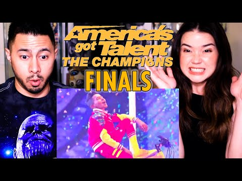 V. UNBEATABLE   America's Got Talent: The Champions   FINALS   Reaction   Jaby Koay