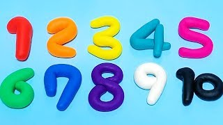 Learn To Count 1 to 10 with Play Doh Numbers | Counting Numbers | Happy Toys 2