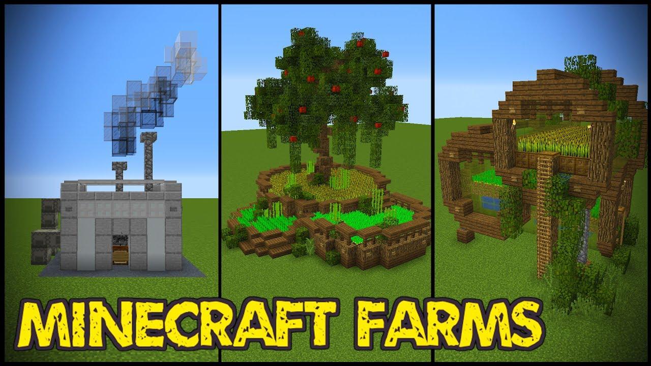 11 Minecraft Farm Designs! - YouTube