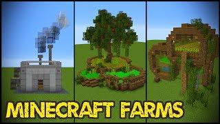 11 Minecraft Farm Designs!