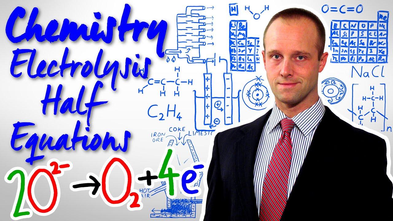 Electrolysis Half Equations