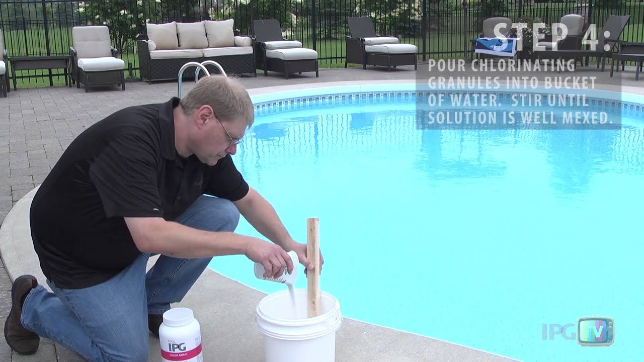 how to add chlorine to your swimming pool youtube