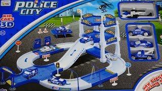 Gambar cover Police City Play Set Parking Garage Car Wash Gasoline Towing Truck Kids Favorite Toy