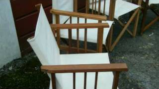 4 Folding Wooden Garden & Picnic Chairs Ebay Listing By Alchemistic
