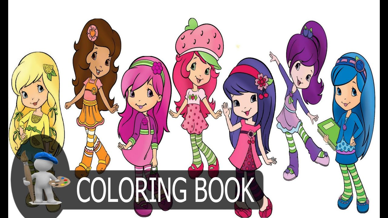 Strawberry Shortcake And Friends For Kids Coloring Pages - YouTube