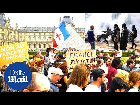 France Covid-19 protest: Thousands demonstrate against new coronavirus rules