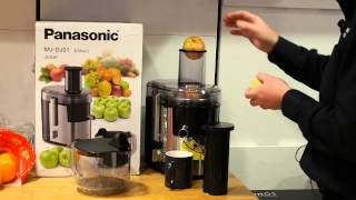 panasonic mj dj01 juicer demo