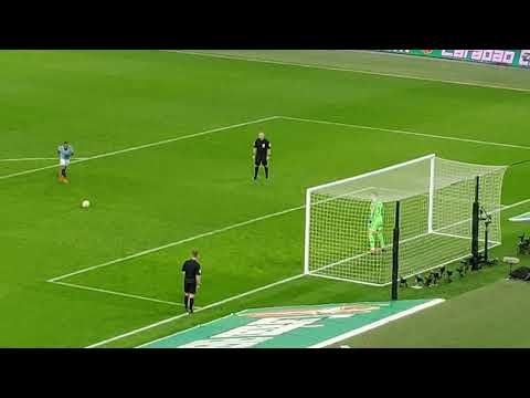 Raheem Sterling winning penalty for man city vs Chelsea, carabao cup final 2019