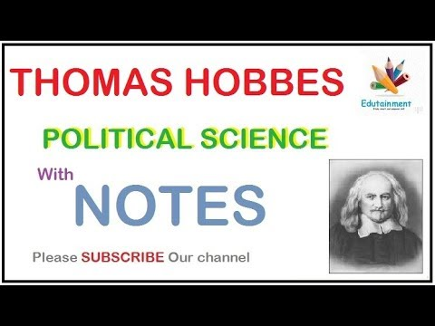 Thomas Hobbes POLITICAL PHILOSOPHY | NOTES
