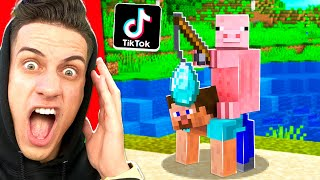 TESTED 60 NEW VIRAL TIKTOK MINECRAFT HACKS! **WORKED**
