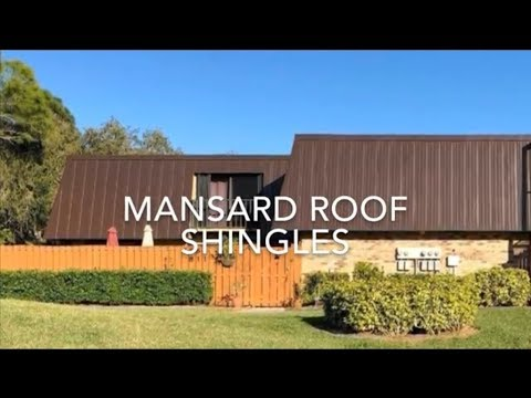 How To Replace Cedar Shake Shingles Mansard Roof With Aluminum Panels Youtube