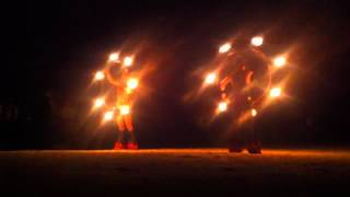 Sexy Mexican Girl Spinning Fire Poi