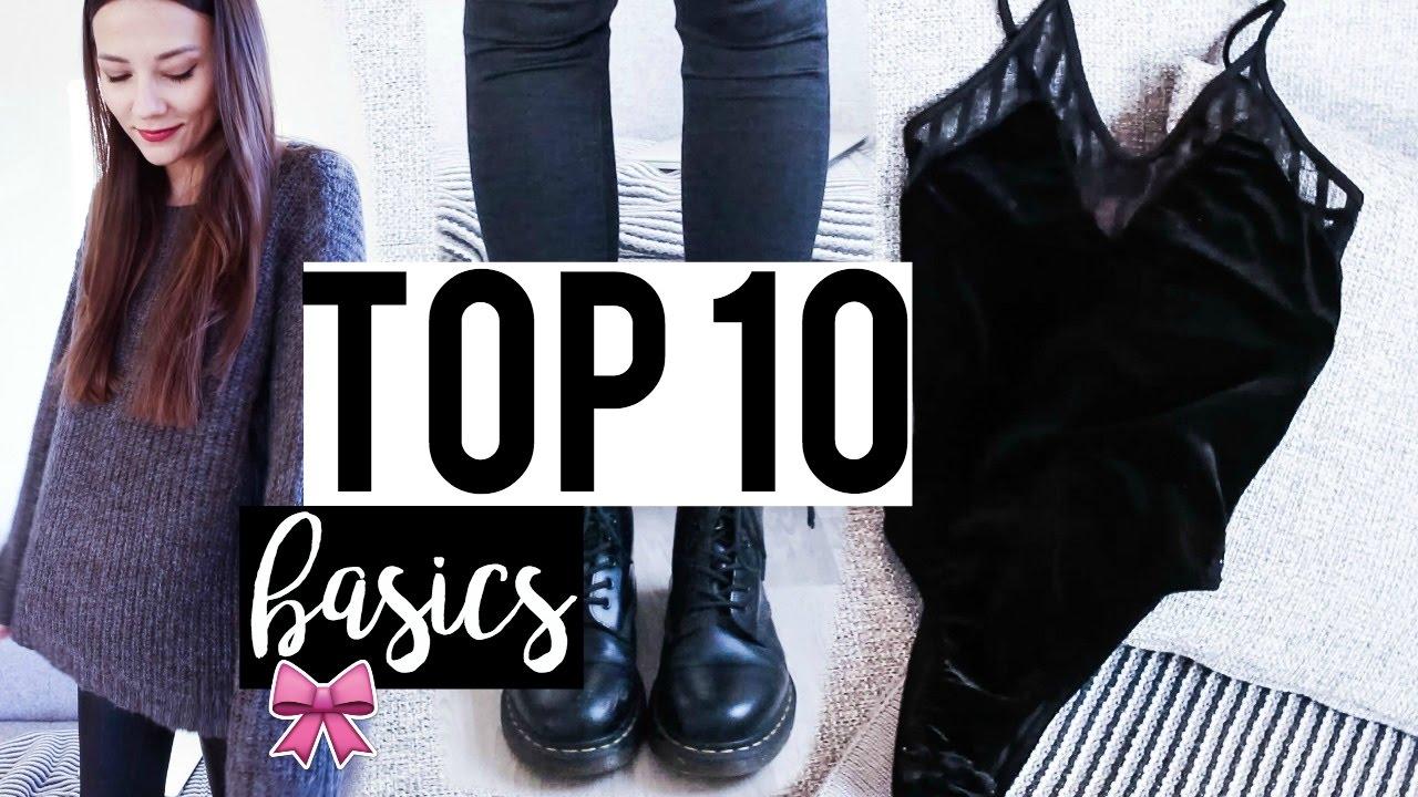 Top 10 Basics Die In Keinem Kleiderschrank Fehlen Durfen Youtube