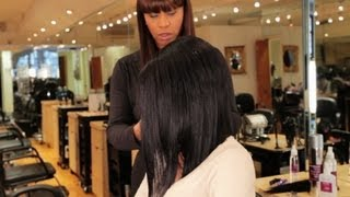 How to Cut a Bob in a Weave | Black Hairstyles