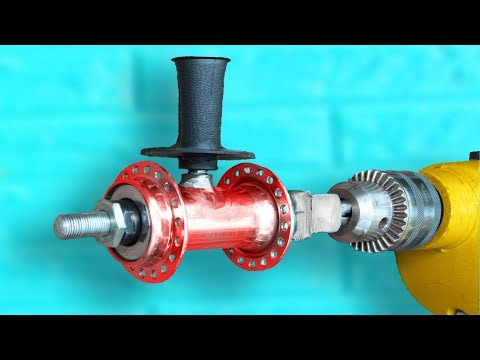 Awesome Device of the Bicycle Hub and Drill !