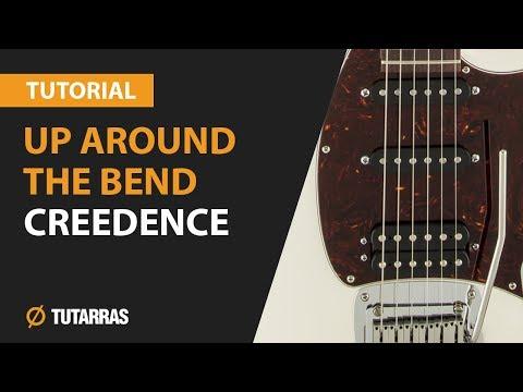 Como tocar Up around the bend de Creedence en Guitarra electrica CLASE TUTORIAL COMPLETA